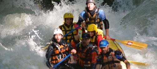 Un momento di rafting alla Cascata delle Marmore