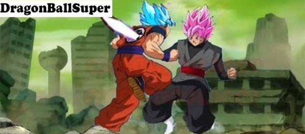 Black hace un daño a Goku lo que hace que se transforme