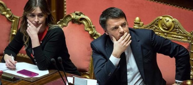 Il Premier Renzi e il Ministro Boschi.
