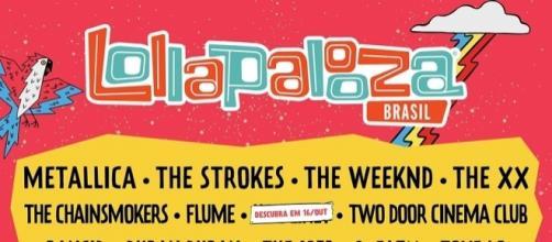 Atrações do Lollapalooza 2017.