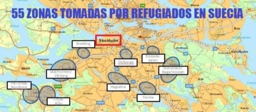 Las zonas de exclusion al sur de la capital sueca.