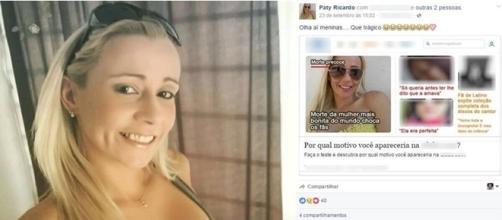 Mulher morta por amigo em bar e sua postagem feita dias antes no Facebook.