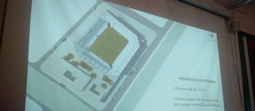 Projeto de estádio do Fluminense é apresentado nesta terça, nas Laranjeiras (Foto: Fred Huber/Globoesporte)