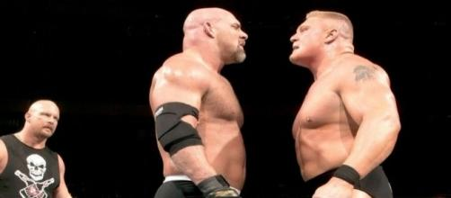 Wresltemania XX: Brock Lesnar vs. Goldberg credit WWE.com...-wwe