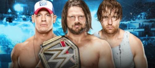 WWE SmackDown Live' Results: AJ Styles Vs. John Cena Vs. Dean ... - inquisitr.com
