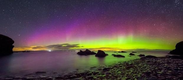 Auroras boreais registradas na Escócia durante a quarta-feira (Maciej Wisniewski/SWNS.com)