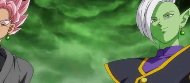 Black y el Kaio-Shin inmortal Zamasu
