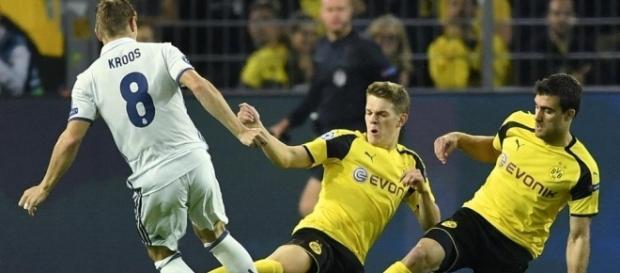 El Real Madrid empata en Signal Idunal Park frente al Borussia. Fuente: Mundo Deportivo