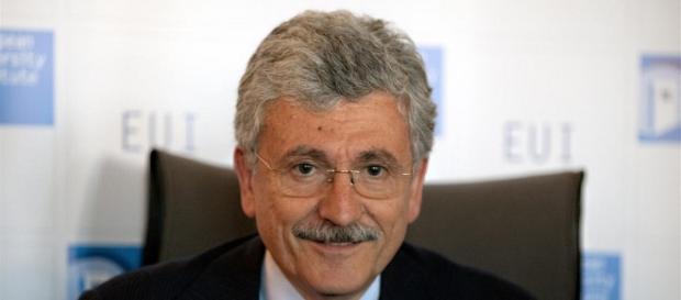 L'ex presidente dei DS, Massimo D'Alema