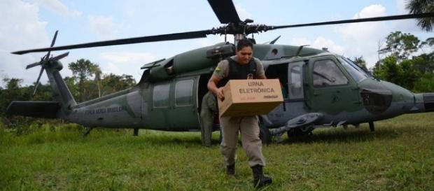 Parceria entre Forças Armadas e Tribunal Superior Eleitoral nas eleições existe desde 1994 (Foto: João Evangelista/Força Aérea)