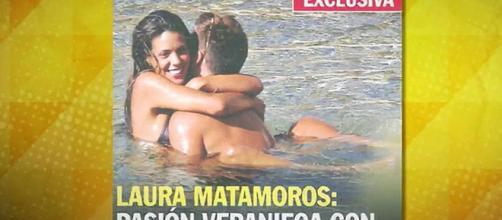 Laura Matamoros, pillada con su nuevo novio.