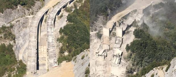Demolizione controllata con esplosivi viadotto SA-RC Mormanno (CS)