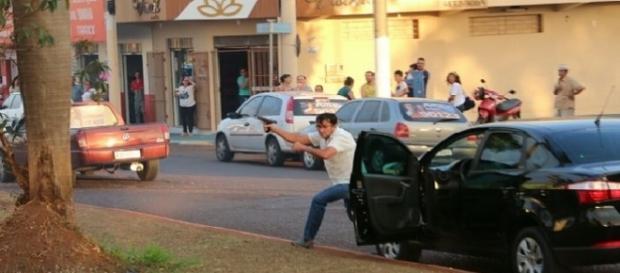Vídeo registra momento dos diparos contra políticos em Goiás