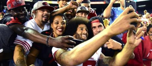 Colin Kaepernick's remarks about police could trigger boycott of 49ers games from Santa Clara cops. Photo c/o inquisitr.com.