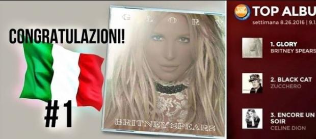 Britney Spears in classifica 'FIMI' (Federazione Industriale di Musica Italiana)