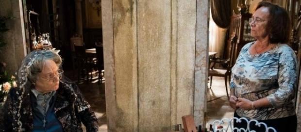 Encarnação morre depois de falar com Piedade (Divulgação/Globo)