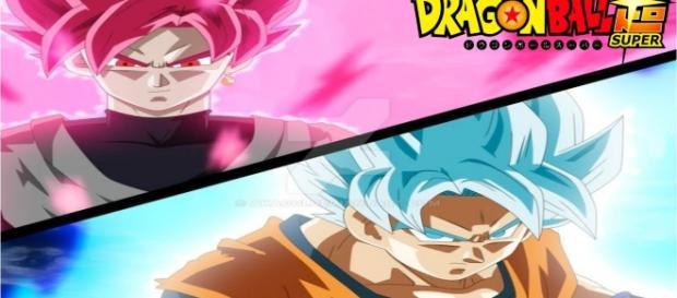 GOKU FASE ROSE VS GOKU BLUE DBS