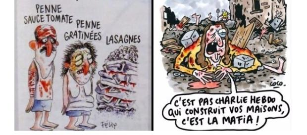 Ilustraciones de Charli Hebdo sobre las víctimas del terremoto italiano causan indignación