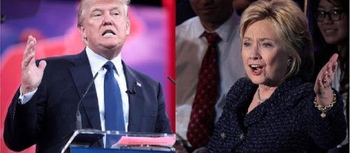 Donald Trump and Hillary Clinton fight for the presidency