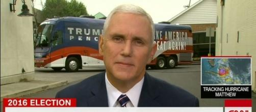 "Donald Trump running mate Mike Pence on ""New Day"" / Photo via screenshot, CNN"