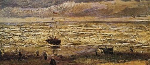 """""""La spiaggia di Scheveningen durante un temporale"""", uno dei quadri ritrovati"""