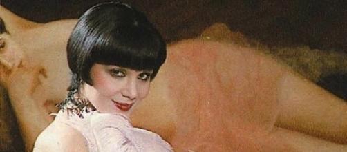 Laura Troschel durante una scena negli anni 80