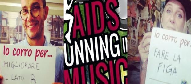 Diego Passoni e La Pina per 'AIDS Running in Music'.