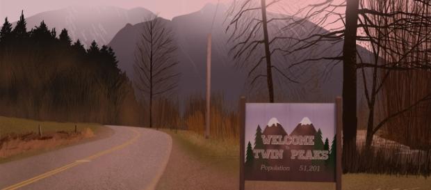 Fotogramma della sigla iniziale che dà il benvenuto a Twin Peaks (Twin Peaks News - welcometwinpeaks.com)