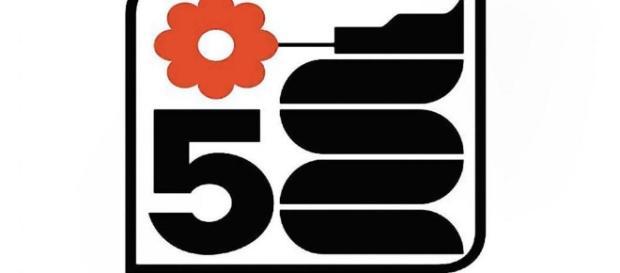 Lo storico logo di Canale Cinque