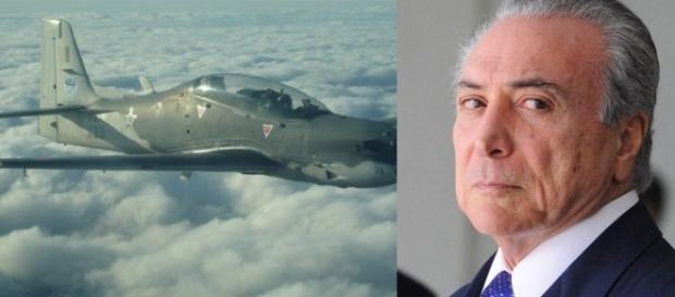 Michel Temer e avião - Foto/Reprodução
