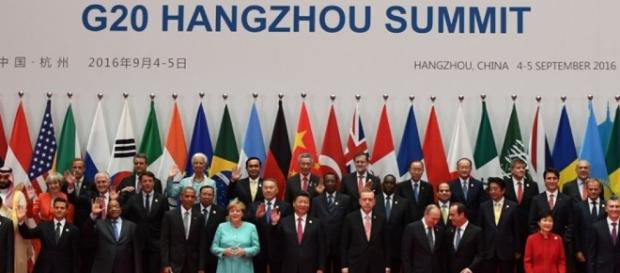 Photo traditionnelle des dirigeants participant au G20