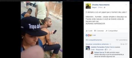 Foto de Adriano viralizou no Facebook