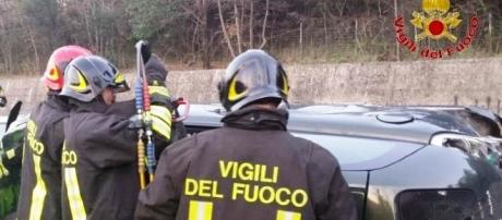 Incidenti stradali: scontro auto-pullman a Siena, muore bimba 11 anni, ferito il nonno, foto archivio vigili del fuoco