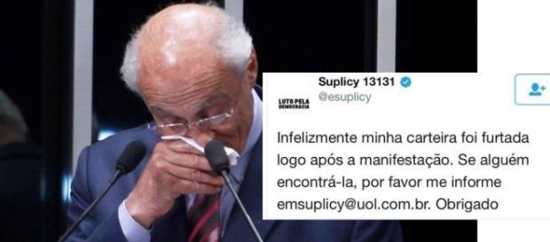Ex-Senador teve a carteira roubada em protesto