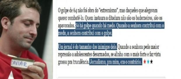 Gregório acusa Folha de dar 'golpe'