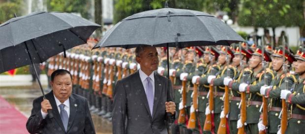 Obama rencontre le président du Laos