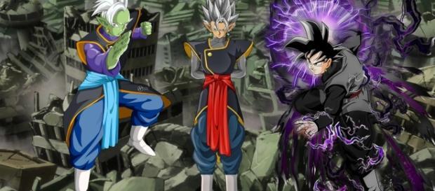 Zamasu, Black y una fusion de ambos (fan art creado en base a los renders de naironkr, secrethet y secrethet)