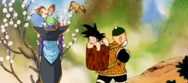 Zamasu travelling to the past to kidnap Goku (YouTube)
