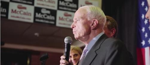 John McCain dismisses Donald trump as the next President. Credit: YouTube - John McCain on Arizona's Future - John McCain