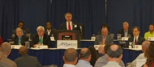 Louisiana candidate for US Senate Charles Marsala attends the Monroe, La. Chamber of Commerce debate (Source: used with permission by Charles Marsala)