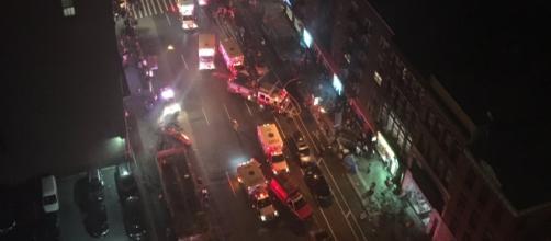 New York, la zona dell'esplosione a Manhattan.