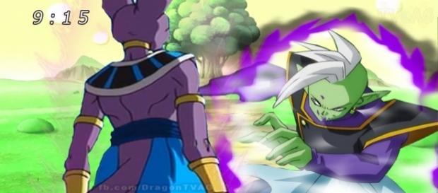el Dios de la destrucción Bills mata a Zamasu