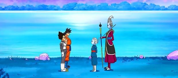 entranamiento de Daishinkan a Vegeta y Son Goku