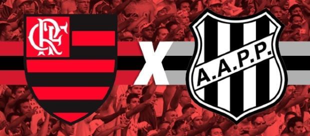 Flamengo enfrenta a Ponte Preta nesta quarta (montagem: Victor Duarte)