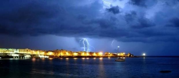 Foto del temporale ad Otranto. Fotografo: Dino Longo.