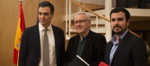 Alberto Garzón se reúne con Pedro Sánchez