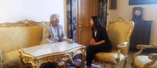 Beppe Grillo con Virginia Raggi