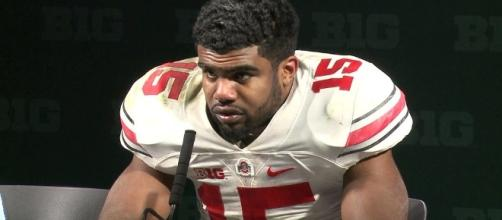 Ezekiel Elliott was accused in July of hitting his ex-girlfriend while they were in a parked car. Photo c/o Wikimedia Commons.