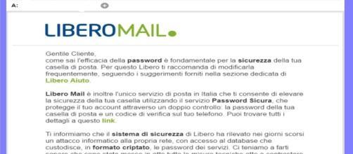 Libero mail: violato il sistema di sucurezza