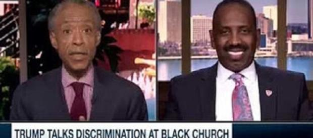 """Al Sharpton Source: YouTube still """"Sharpton to Detroit Pastor: Did Trump 'Repent' at All When He Spoke to You?"""" channel: !i!i.TheRightScoop97!i!i"""